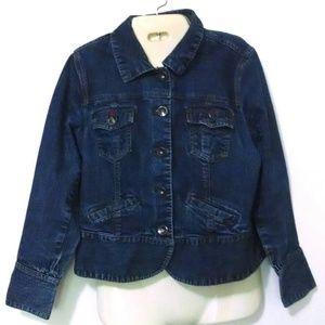 Christopher & Banks Blue Jean stretch Denim Jacket
